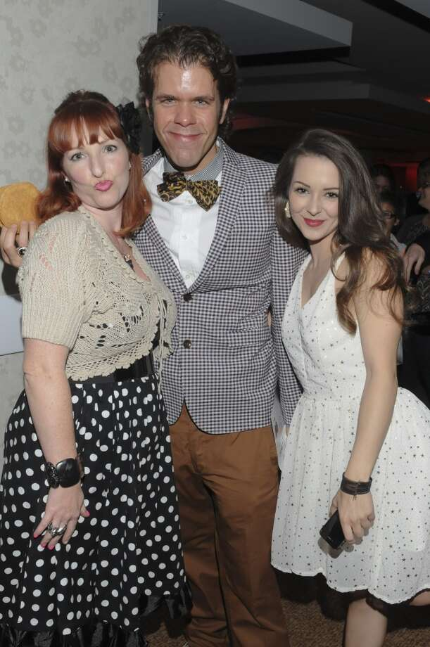 LOS ANGELES, CA - APRIL 20:  Ereka Pimental of Bubba Sweets cupcakes, Perez Hilton and actress Brittni Rich attend the 24th Annual GLAAD Media Awards Presented By Ketel One And Wells Fargo - Dinner And Show at JW Marriott Los Angeles at L.A. LIVE on April 20, 2013 in Los Angeles, California.  (Photo by Vivien Killilea/Getty Images for GLAAD)