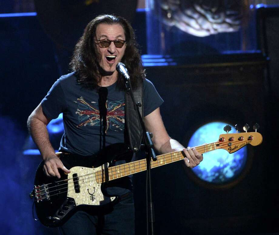 Inductee Geddy Lee of Rush performs on stage at the 28th Annual Rock and Roll Hall of Fame Induction Ceremony at Nokia Theatre L.A. Live on April 18, 2013 in Los Angeles, California. Photo: Kevin Winter, Getty Images / 2013 Getty Images