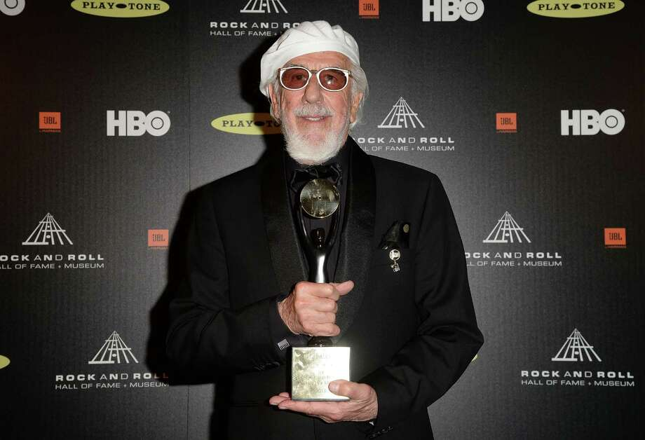 Honoree Lou Adler poses in the press room at the 28th Annual Rock and Roll Hall of Fame Induction Ceremony at Nokia Theatre L.A. Live on April 18, 2013 in Los Angeles, California. Photo: Jason Merritt, Getty Images / 2013 Getty Images