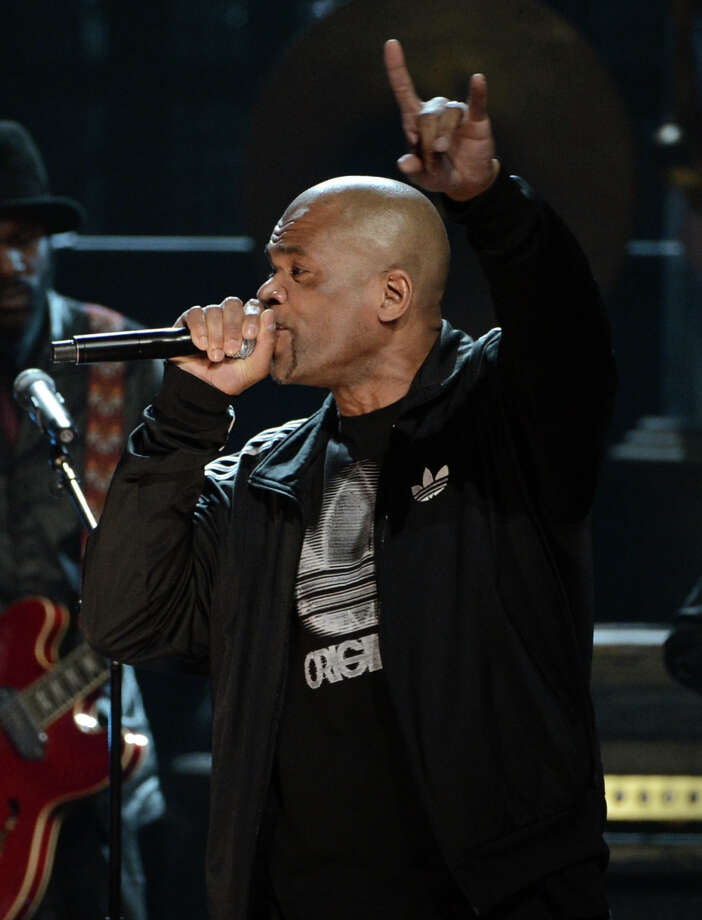 "MC Darryl ""D.M.C."" McDaniels performs onstage at the 28th Annual Rock and Roll Hall of Fame Induction Ceremony at Nokia Theatre L.A. Live on April 18, 2013 in Los Angeles, California. Photo: Kevin Winter, Getty Images / 2013 Getty Images"