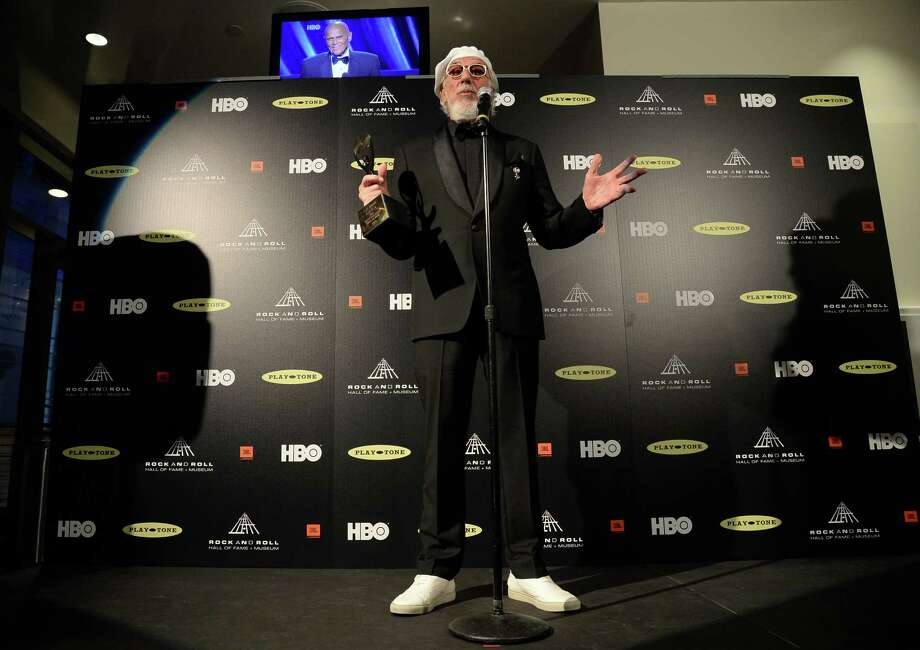 Inductee Lou Adler speaks in the press room at the 28th Annual Rock and Roll Hall of Fame Induction Ceremony at Nokia Theatre L.A. Live on April 18, 2013 in Los Angeles, California. Photo: Jason Merritt, Getty Images / 2013 Getty Images