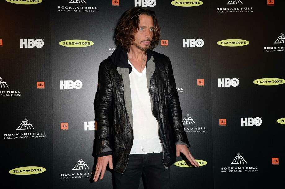 Singer Chris Cornell poses in the press room at the 28th Annual Rock and Roll Hall of Fame Induction Ceremony at Nokia Theatre L.A. Live on April 18, 2013 in Los Angeles, California. Photo: Jason Merritt, Getty Images / 2013 Getty Images