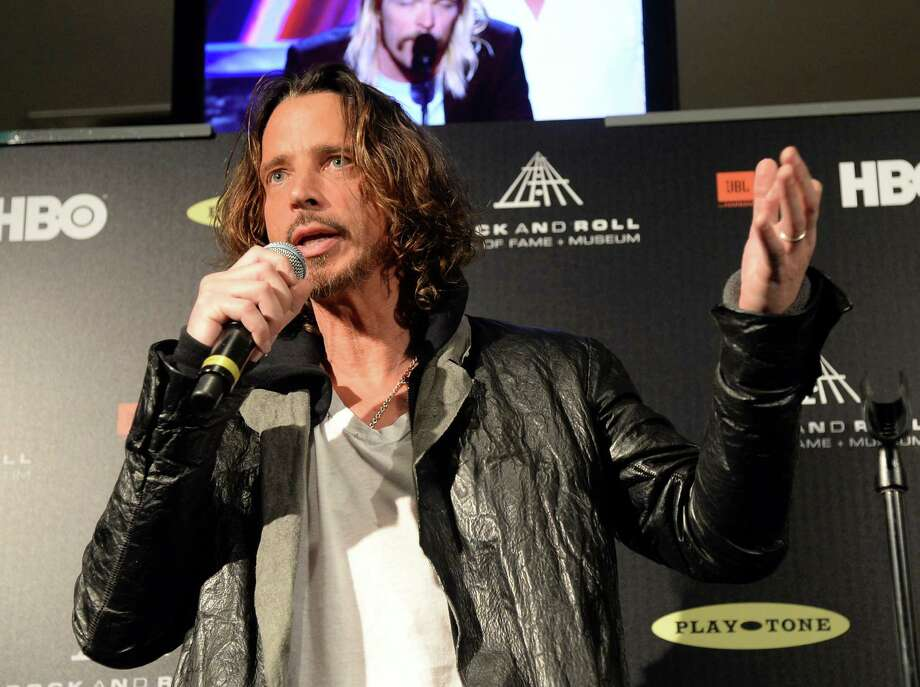Singer Chris Cornell speaks in the press room at the 28th Annual Rock and Roll Hall of Fame Induction Ceremony at Nokia Theatre L.A. Live on April 18, 2013 in Los Angeles, California. Photo: Jason Merritt, Getty Images / 2013 Getty Images