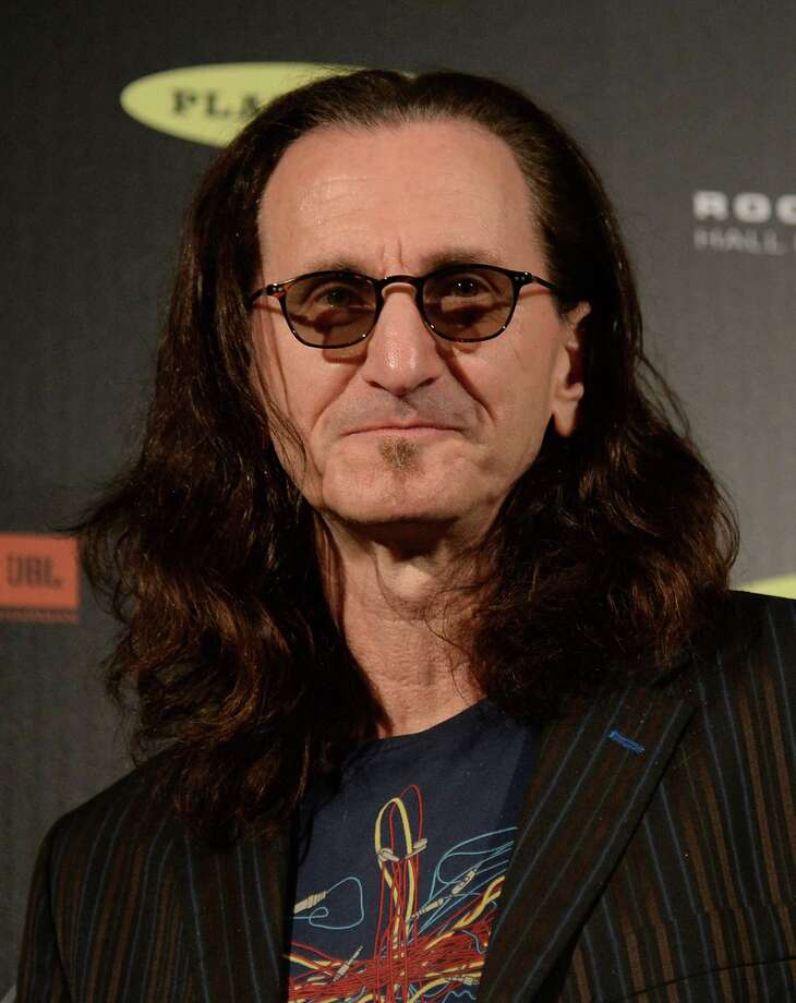 LOS ANGELES, CA - APRIL 18:  Inductee Geddy Lee of Rush poses in the press room at the 28th Annual Rock and Roll Hall of Fame Induction Ceremony at Nokia Theatre L.A. Live on April 18, 2013 in Los Angeles, California. Photo: Jason Merritt, Getty Images / 2013 Getty Images