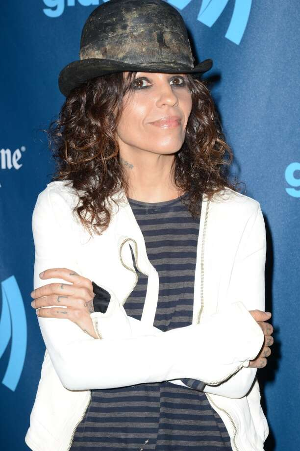 LOS ANGELES, CA - APRIL 20:  Songwriter Linda Perry arrives at the 24th Annual GLAAD Media Awards presented by Ketel One and Wells Fargo at JW Marriott Los Angeles at L.A. LIVE on April 20, 2013 in Los Angeles, California.  (Photo by Earl Gibson III/Getty Images)