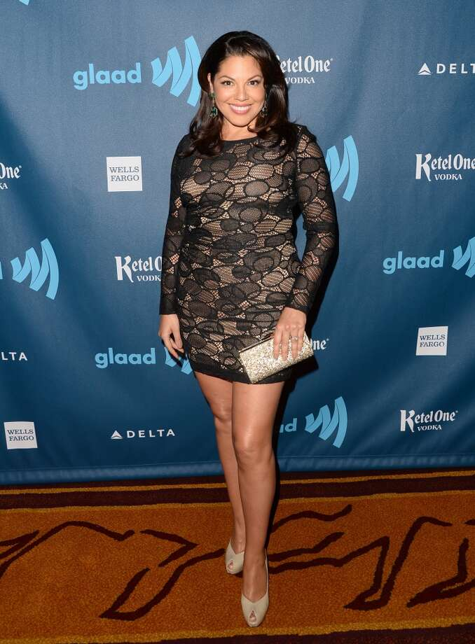 LOS ANGELES, CA - APRIL 20:  Actress Sara Ramirez arrives at the 24th Annual GLAAD Media Awards presented by Ketel One and Wells Fargo at JW Marriott Los Angeles at L.A. LIVE on April 20, 2013 in Los Angeles, California.  (Photo by Jason Merritt/Getty Images for GLAAD)