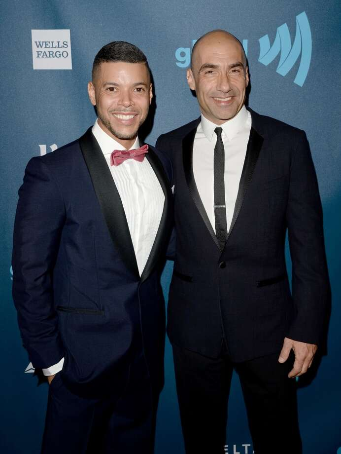 LOS ANGELES, CA - APRIL 20:  Actor Wilson Cruz (L) and honoree Steve Warren arrive at the 24th Annual GLAAD Media Awards presented by Ketel One and Wells Fargo at JW Marriott Los Angeles at L.A. LIVE on April 20, 2013 in Los Angeles, California.  (Photo by Jason Merritt/Getty Images for GLAAD)