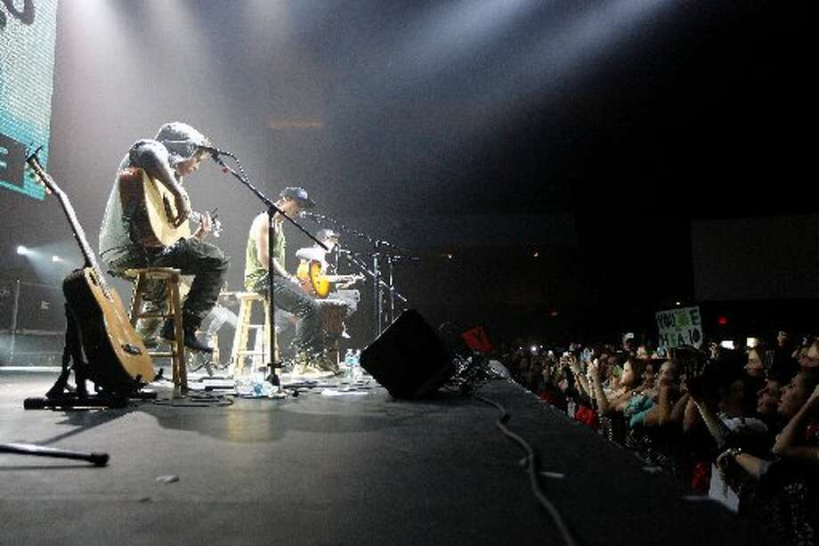 Emblem3 onstage in Houston.