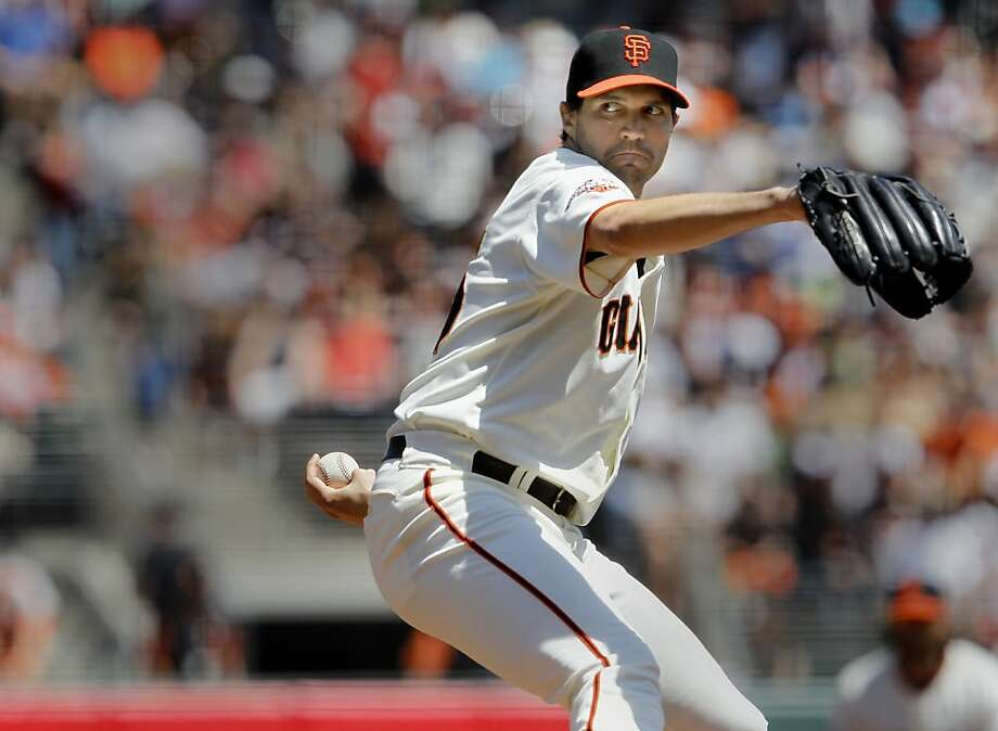 Barry Zito pitched seven scoreless innings. The San Francisco Giants versus the San Diego Padres Sunday April 21, 2013 at AT&T park in San Francisco, Calif. Photo: Brant Ward, The Chronicle