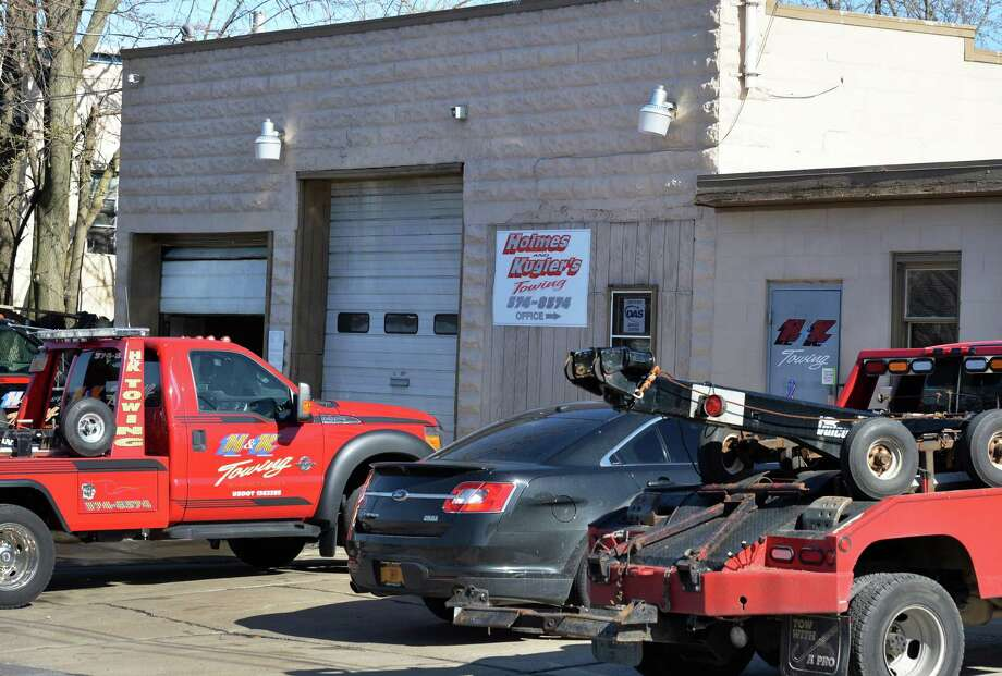 H and K Towing garage on Van Derbogart St. in Schenectady, NY Wednesday April 17, 2013.  (John Carl D'Annibale / Times Union) Photo: John Carl D'Annibale / 10022007A