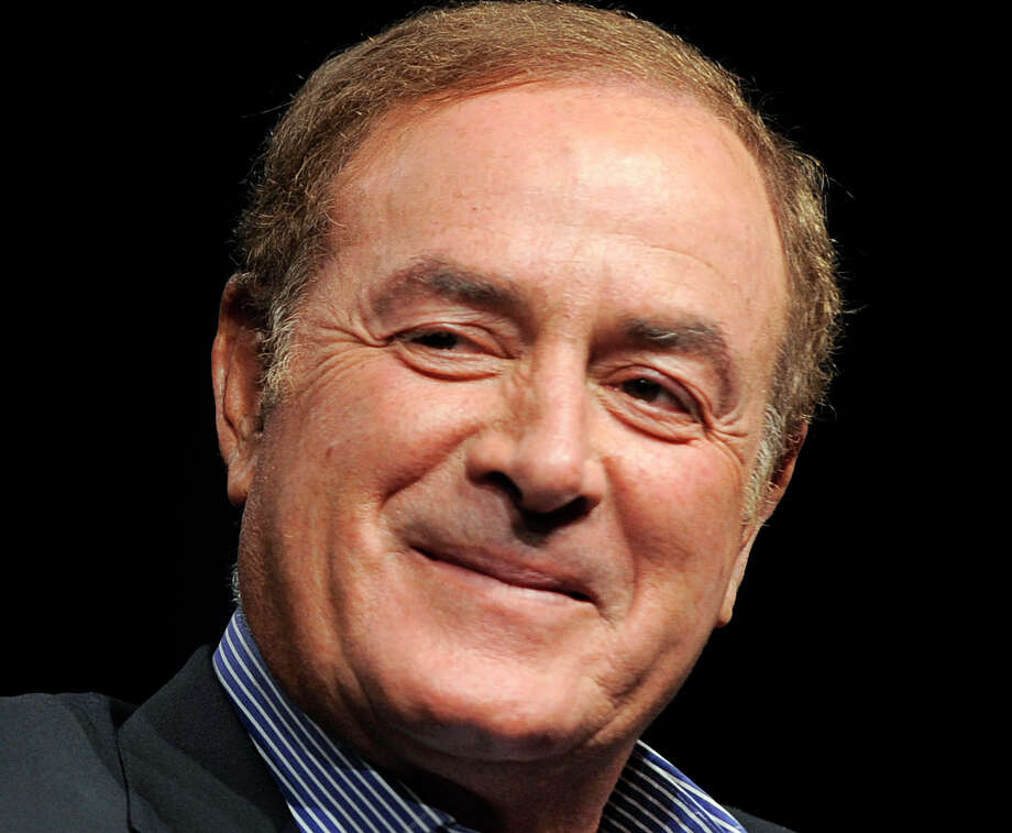 FILE - This is an Aug. 1, 2011 file photo showing NBC Sports announcer Al Michaels in Beverly Hills, Calif. Police in Southern California say that Michaels has been arrested on suspicion of drunken driving. Santa Monica police Sgt. Thomas McLaughlin says Michaels was taken into custody Friday night, April 19, 2013. McLaughlin could provide no additional details. (AP Photo/Chris Pizzello, File) Photo: Chris Pizzello