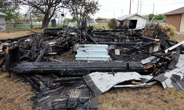 The remains of a home ,Sunday April 21, 2013, after an explosion at a fertilizer plant that occurred Wednesday evening in West, Tx. Photo: Edward A. Ornelas, Express-News / © 2013 San Antonio Express-News
