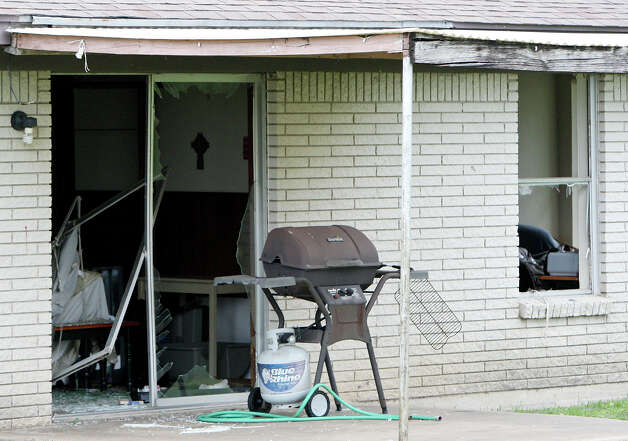 Damage to a home ,Sunday April 21, 2013, after an explosion at a fertilizer plant that occurred Wednesday evening in West, Tx. Photo: Edward A. Ornelas, Express-News / © 2013 San Antonio Express-News