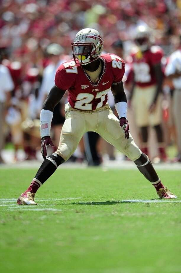 Xavier Rhodes, CB, 6-2, 210, 4.39, Florida State  Exceptional size and speed should allow him to cover just about every receiver.  Likes to play press coverage and use his long arms to jam receivers at the line of scrimmage. Has excellent makeup speed. Plays the run hard. Needs to improve technique and commit fewer penalties. Adjusts to the ball well. Should go in the top half of the first round.
