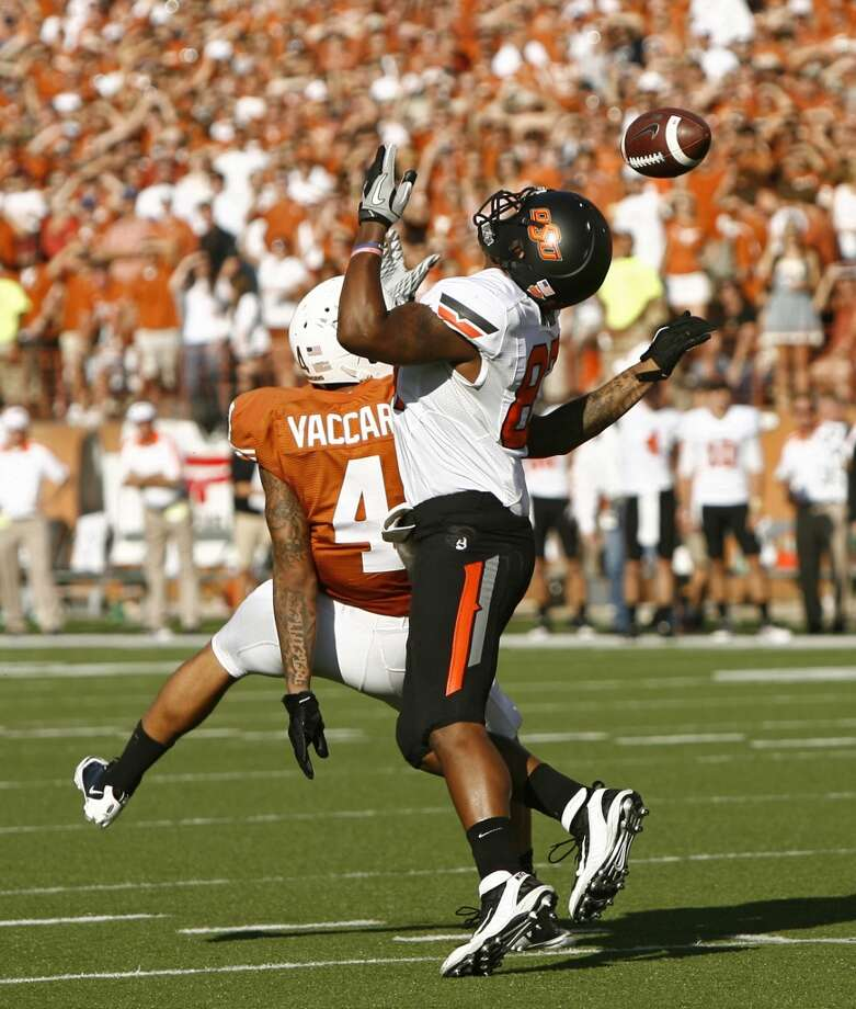 Kenny Vaccaro, FS, 6-0, 214, 4.59, Texas  The top-rated safety can play deep because of his range and instincts, or he can drop down around the line of scrimmage and bang on the tight ends, slot receivers and running backs. Smart player with good size but lacks ideal speed. Plays hard against the run. Sometimes loses focus because he tries to make the big hit. Should go in the middle of the first round.