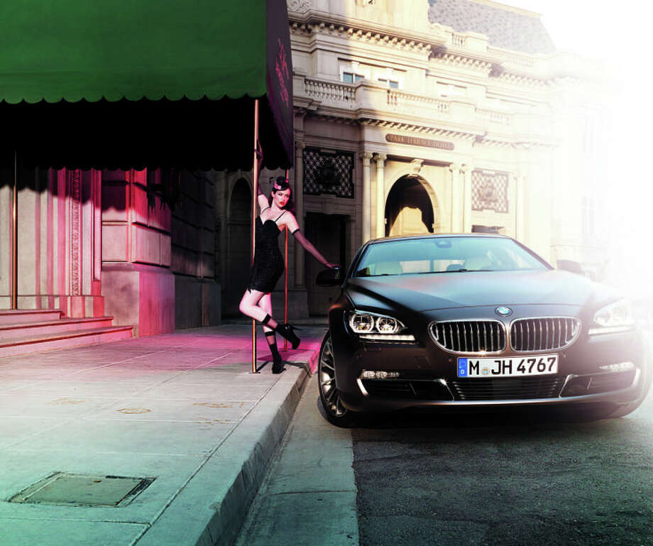 BMW will present at the Paris Photo fair a mini series of Burlesque Style Photos with the 6 Series Gran Coupe by internationally renowned German photographer Uwe Düttmann. Photo: BMW