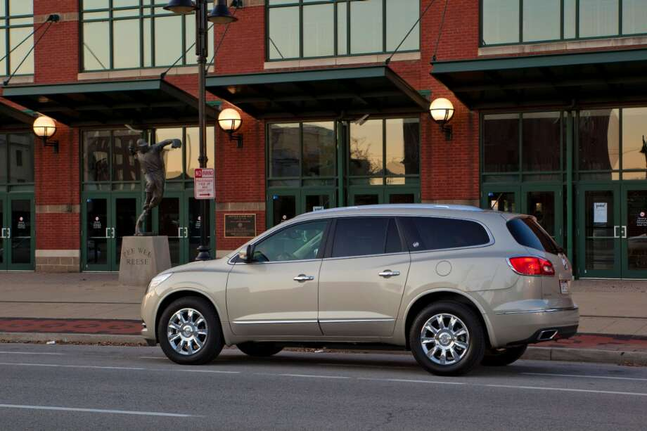 Buick has produced two vehicles able to hold up to 8 passengers. The 1991-1996 Roadmaster Estate and the 2013 Enclave shown here. Photo: Buick
