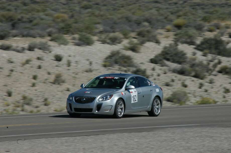 In 2013, two Buick engineers set a new top speed record for the brand when they took a 2013 Regal GS to 162 mph in a closed-course road rally. Photo: Buick