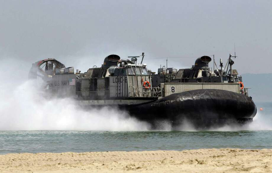 U.S. Navy's landing craft, air cushion is the sort of hovercraft the mobile landing platform is designed to transport. Photo: Chung Sung-Jun, Getty Images / 2013 Getty Images