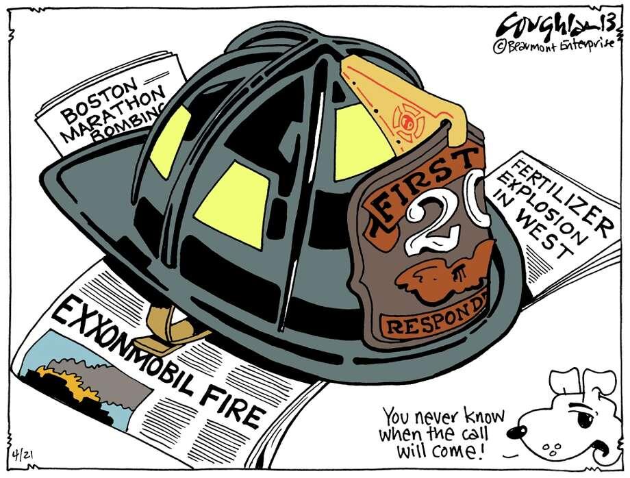 Andy Coughlan's cartoon for Sunday, April 21, 2013.