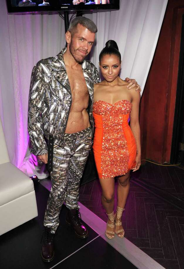 They sort of match, don\'t they? Perez Hilton, left, and actress Kat Graham pose at Logo\'s NewNowNext Awards in Hollywood. Photo: John Shearer, Getty Images For W Hotel / 2012 Getty Images