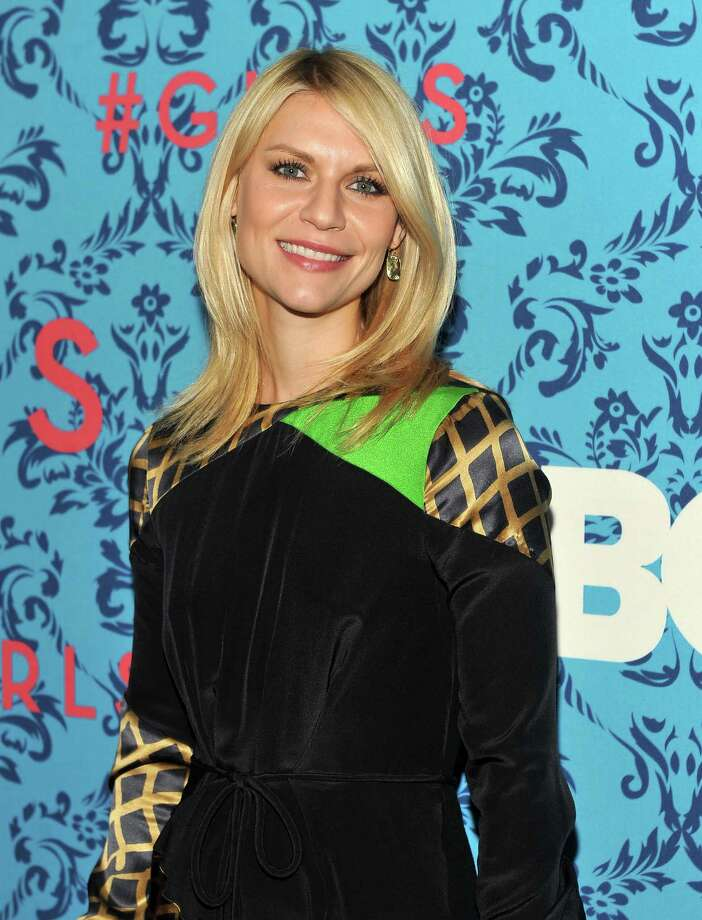 """Actress Claire Danes mixes Kermit the Frog green and gold cross-hatching for the premiere of HBO\'s \""""Girls\"""" in New York City. Photo: Stephen Lovekin, Getty Images / 2012 Getty Images"""