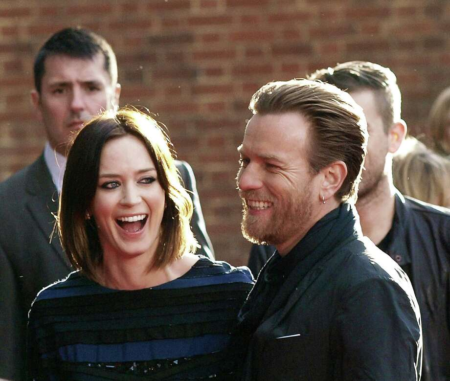 "British actors Emily Blunt and Ewan McGregor at the European premiere of their film ""Salmon Fishing in the Yemen\"" in London. Photo: MAX NASH, AFP/Getty Images / AFP"