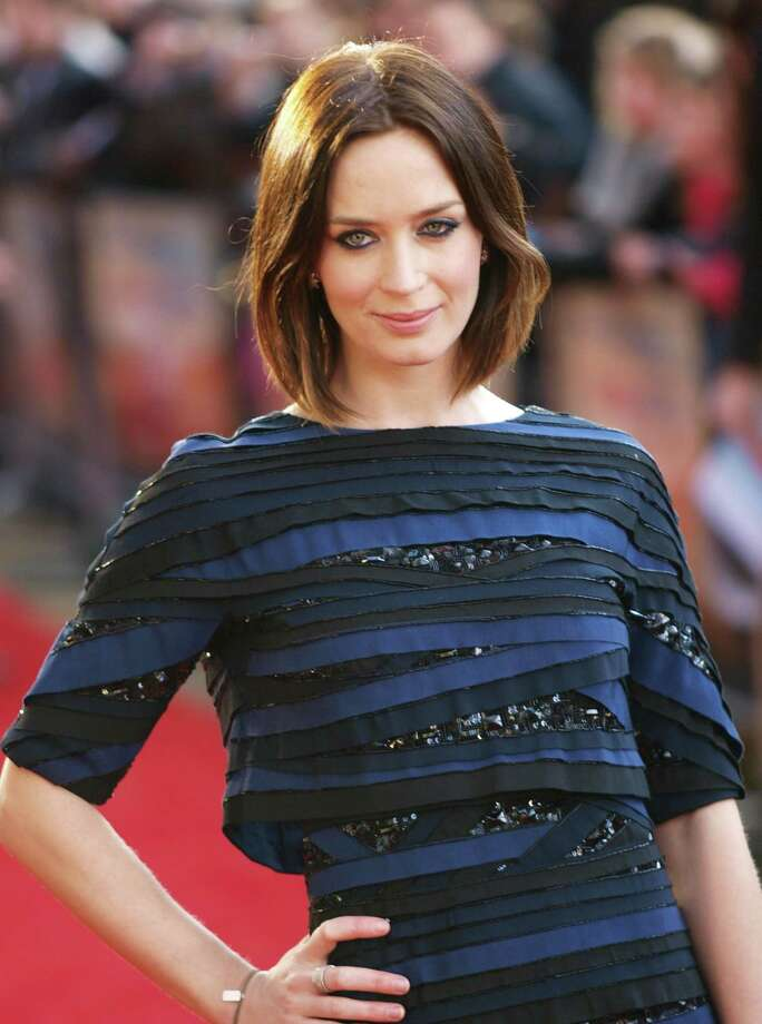 """Emily Blunt looks lovely in horizontal stripes at the European premiere of \""""Salmon Fishing in the Yemen\"""" in London. Photo: MAX NASH, AFP/Getty Images / AFP"""
