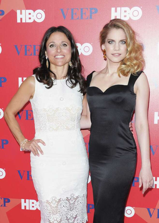 "Julia-Louis Dreyfus, left, and Anna Chlumsky attend the ""Veep\"" screening in New York City. Photo: Michael Loccisano, Getty Images / 2012 Getty Images"