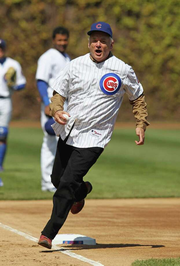 Bill Murray threw out the first pitch on opening day for the Chicago Cubs. Photo: Jonathan Daniel, Getty Images / 2012 Getty Images