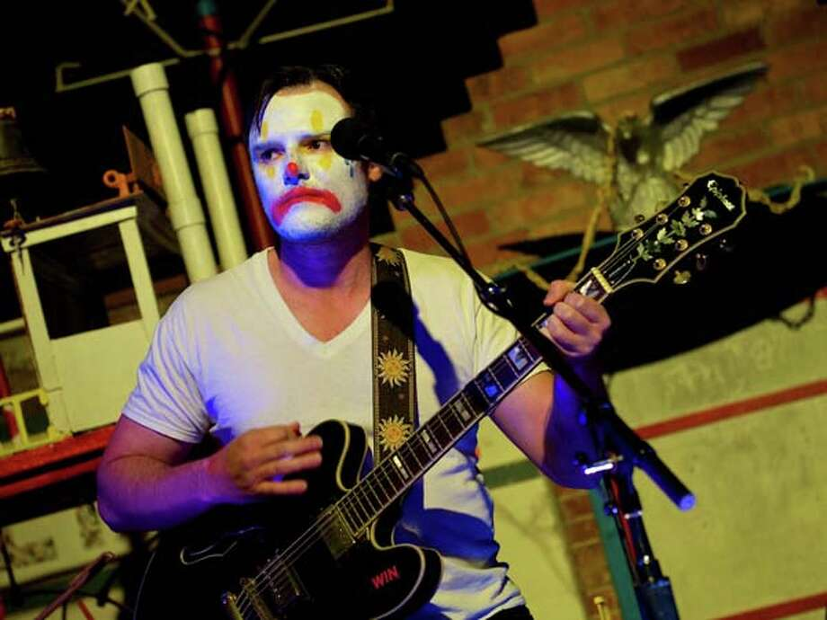 Dwight Taylor Lee performs as sadfaced clown in Dwight\'s CarouselPhoto by Jay Dryden / copyright 2013 Jay Dryden