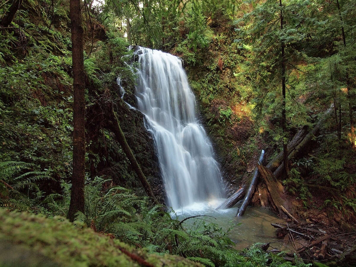 Classic shot of 70-foot Berry Creek Falls near Skyline-to-the-Sea Trail