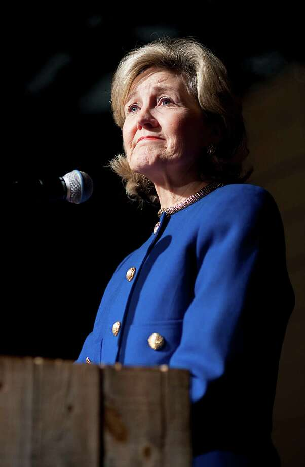Sen. Kay Bailey Hutchison gives a concession speech, ending her run for governor of Texas, at Eddie Deen's Ranch near downtown Dallas, March 2, 2010. Photo: Matt Nager, The New York Times / NYTNS