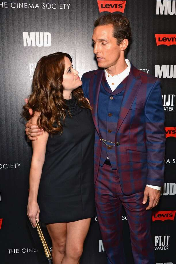 "Actors Reese Witherspoon and Matthew McConaughey attend the Cinema Society screening of ""Mud\"" at The Museum of Modern Art on April 21, 2013 in New York City.  (Photo by Dimitrios Kambouris/Getty Images)"