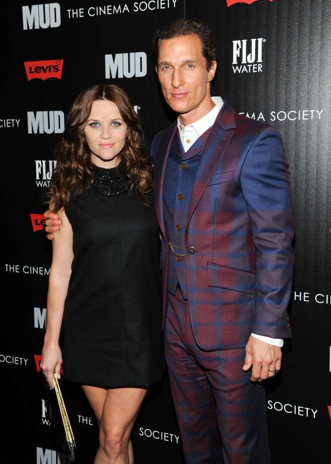 """Actors Reese Witherspoon and Matthew McConaughey attend the premiere of \""""Mud\"""" hosted by The Cinema Societywith FIJI Water & Levi\'s at the Museum of Modern Art on Monday April 21, 2013 in New York. (Photo by Evan Agostini/InvisionAP)"""