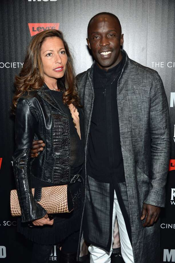 "NEW YORK, NY - APRIL 21:  Actor Michael K. Williams (R) and guest attend The Cinema Society With FIJI Water & Levi\'s screening of ""Mud\"" at The Museum of Modern Art on April 21, 2013 in New York City.  (Photo by Dimitrios Kambouris/Getty Images)"
