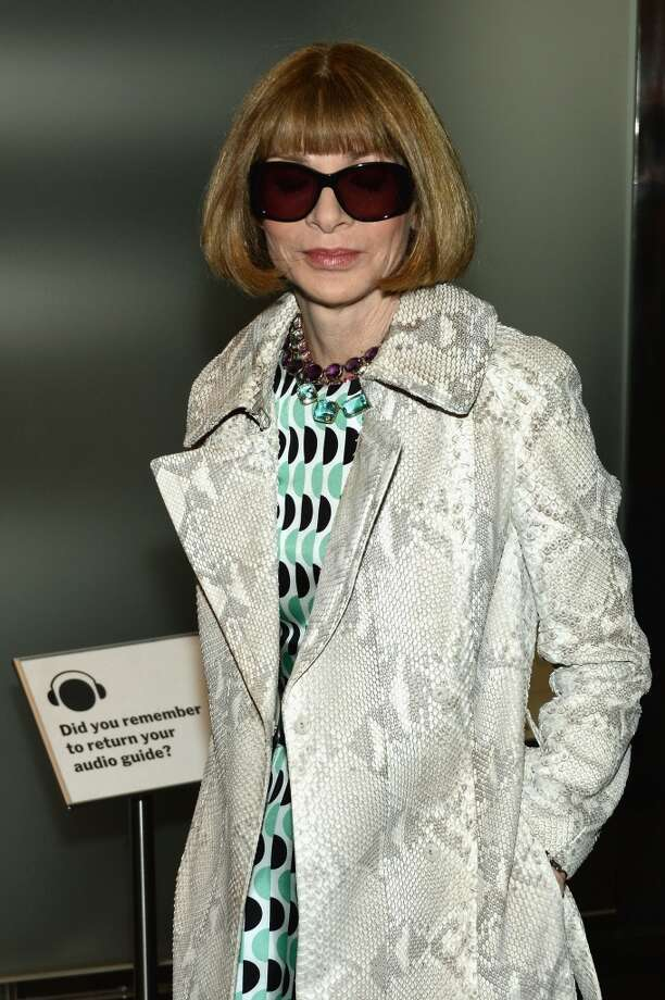 """NEW YORK, NY - APRIL 21:  Anna Wintour attends The Cinema Society With FIJI Water & Levi\'s screening of \""""Mud\"""" at The Museum of Modern Art on April 21, 2013 in New York City.  (Photo by Dimitrios Kambouris/Getty Images)"""
