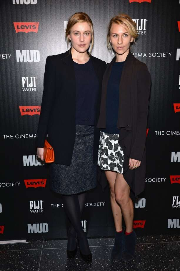 "NEW YORK, NY - APRIL 21:  (L-R) Actors Greta Gerwig and Mickey Sumner attend the Cinema Society with FIJI Water & Levi\'s screening of ""Mud\"" at The Museum of Modern Art on April 21, 2013 in New York City.  (Photo by Dimitrios Kambouris/Getty Images)"