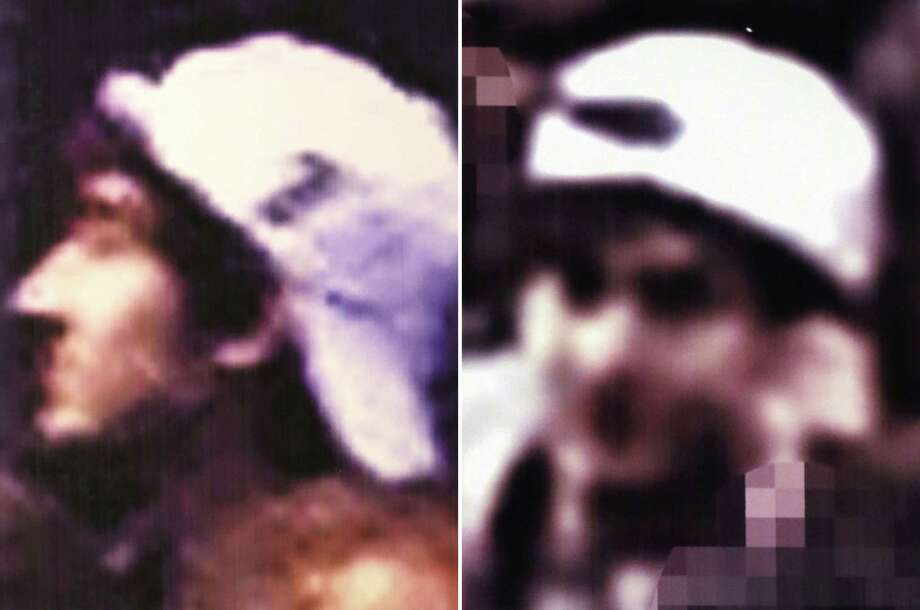 This image from video released Thursday, April 18, 2013 by the FBI shows one of two suspects sought in connection with the Boston Marathon bombings. The FBI released photos and video of the two suspects and asked for the public's help in identifying them, zeroing in on the two men on surveillance-camera footage less than three days after the deadly attack. Photo: FBI