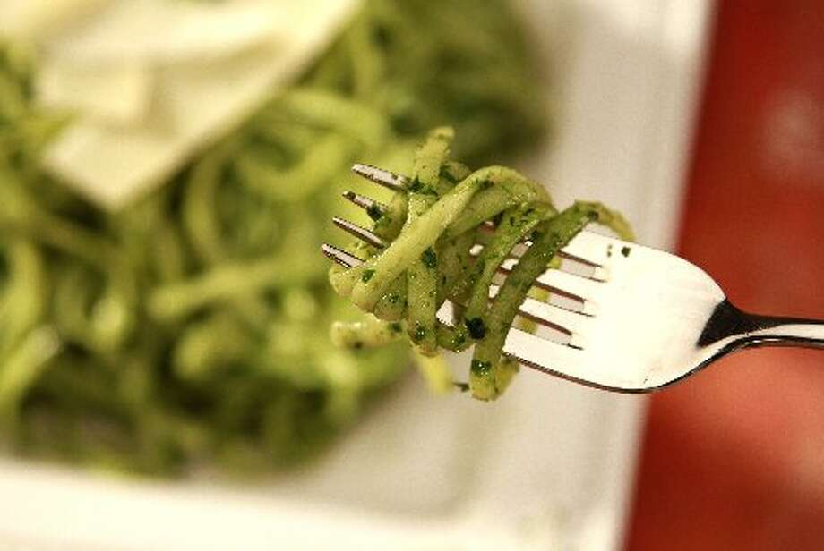 Pesto, an Italian specialty, is great on your pasta if you are tired of traditional tomato sauce.