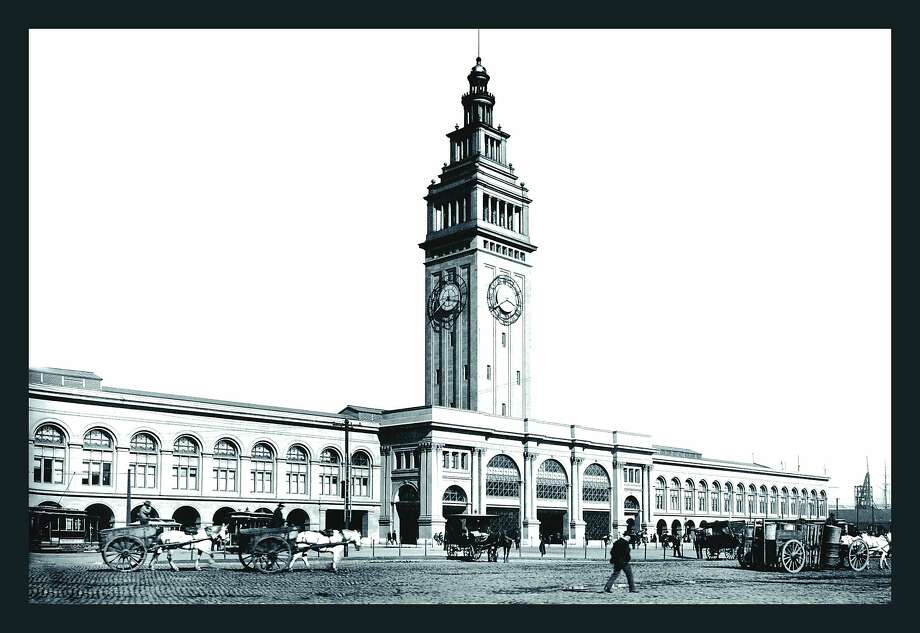 Ferry Building, San Francisco around 1900. Except for the horses, how much different is the view now?  Photo: Buyenlarge