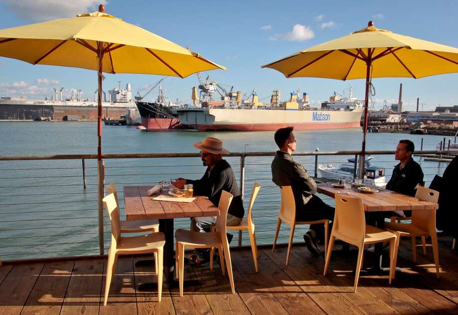 Mission Rock Resort (817 Terry A Francois Blvd, San Francisco): Peter Osborne has resurrected the two-story waterfront Mission Bay restaurant -- and how. Photo: San Francisco Chronicle