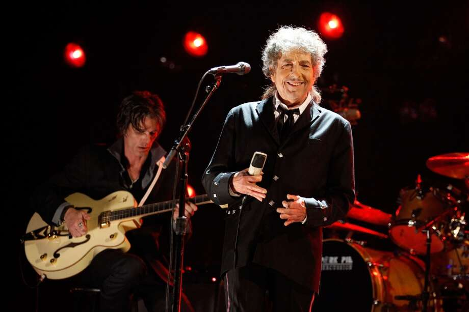 AmericanaramA featuring Bob Dylan, Wilco and My Morning Jacket rolls into SPAC July 21. Pictured here is Dylan performing during the 17th Annual Critics\' Choice Movie Awards held at The Hollywood Palladium in Los Angeles on  on Jan. 12, 2012.