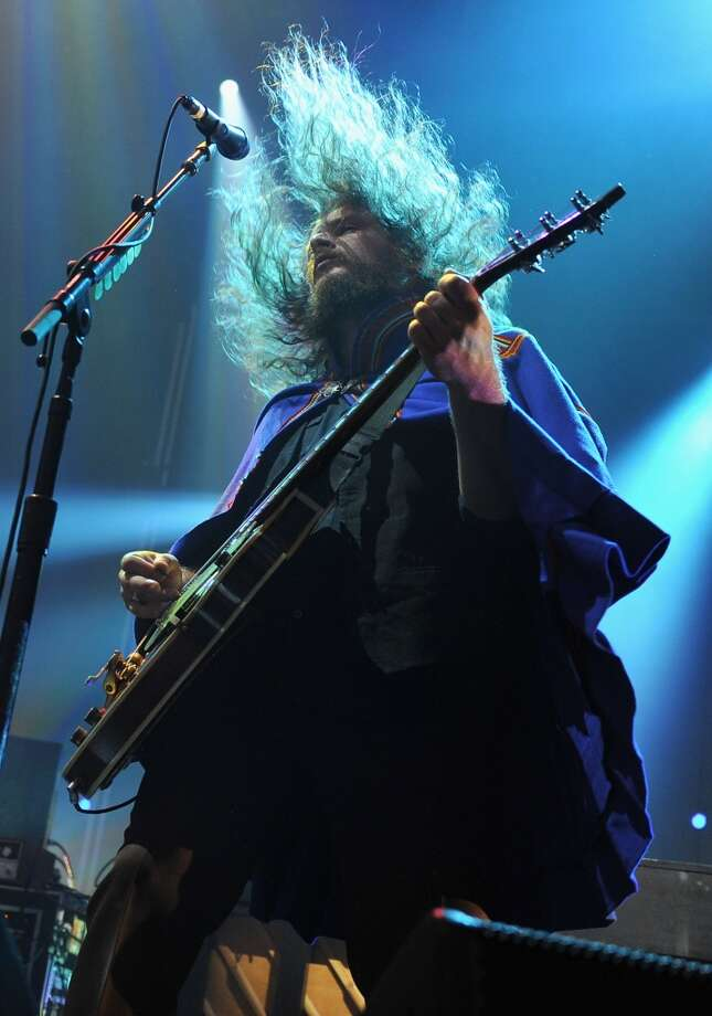 AmericanaramA featuring Bob Dylan, Wilco and My Morning Jacket rolls into Webster Bank Arena in Bridgeport July 19. Pictured her is Jim James of My Morning Jacket performing during the 2012 Lacoste L!ve Concert Series at the Williamsburg Waterfront in Brooklyn, N.Y. on Aug. 19, 2012.