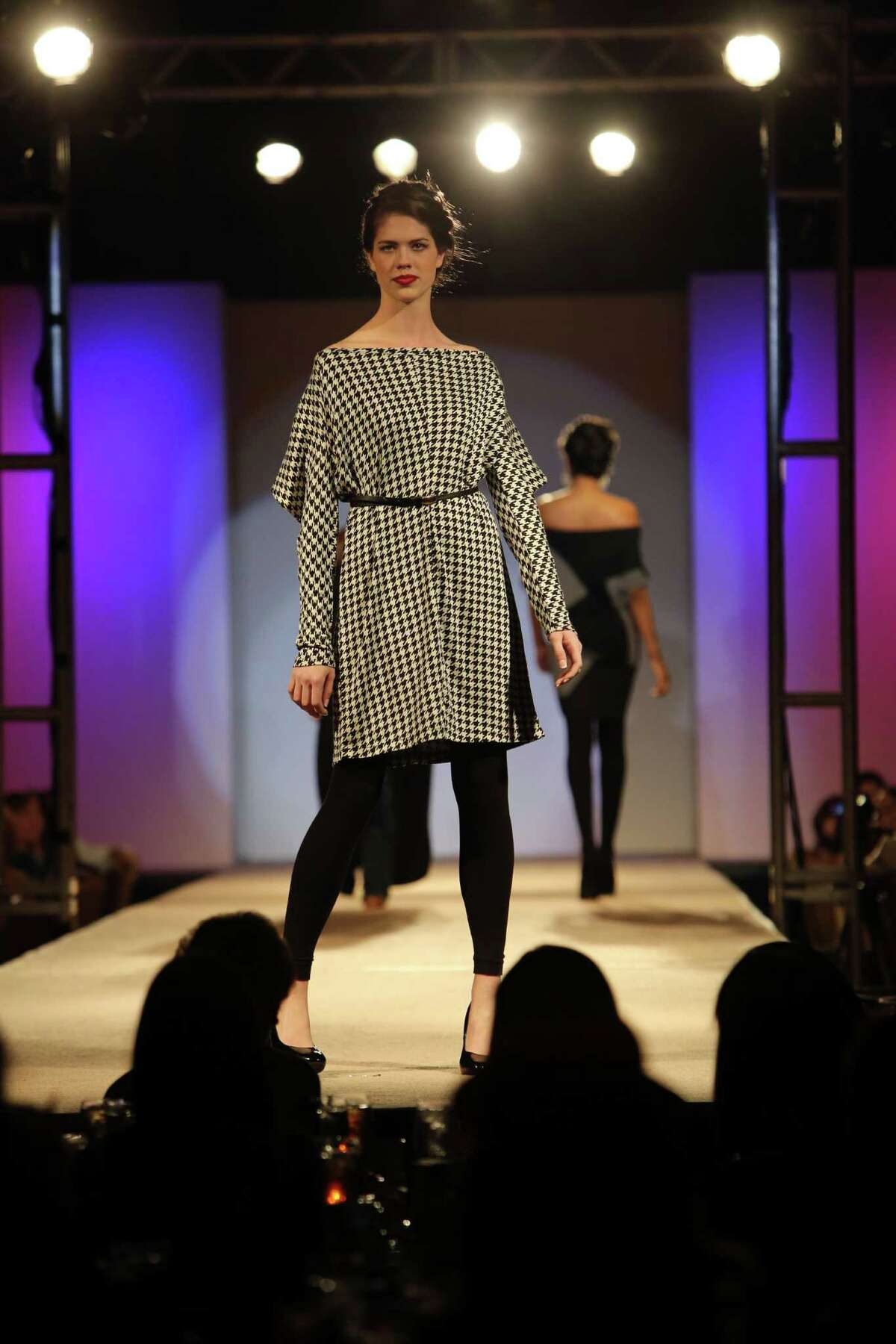 Nine students presented six different looks on Monday April 22, 2013 at the annual Cutting Edge Fiesta Fashion Show put on by the University of Incarnate Word's graduating design students.