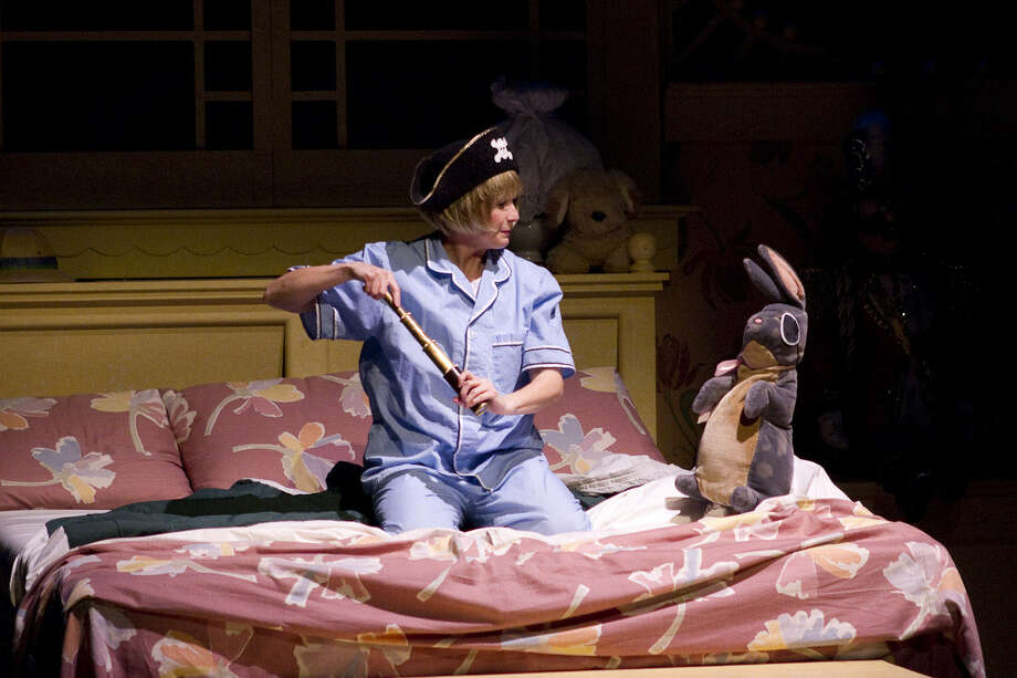 "Becky King plays the owner of ""The Velveteen Rabbit"" in the production at Magik Theatre. Photo: Courtesy David Frank"