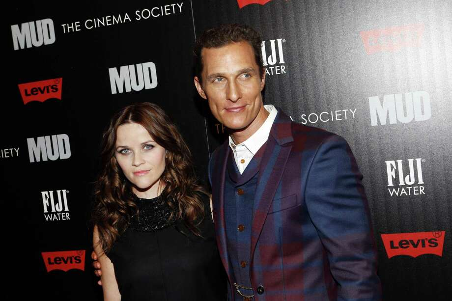 "Actors Reese Witherspoon and Matthew McConaughey arrive Sunday at a New York screening of ""Mud."" Photo: Jason DeCrow / Associated Press"