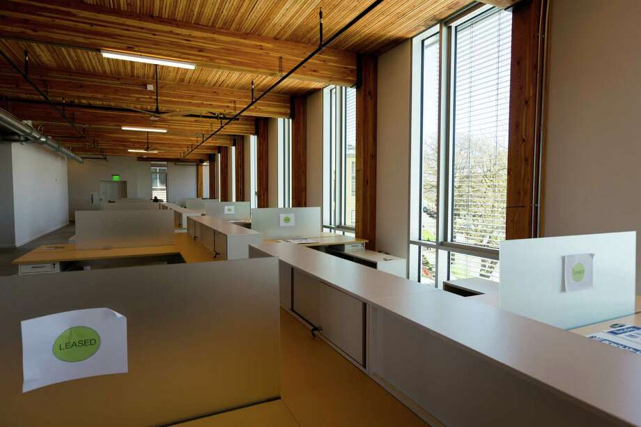 A view of leased office space in the newly-opened Bullitt Center on Earth Day Monday, April 22, 2013, on Capitol Hill in Seattle. This six-story, 50,000 square-foot structure is the greenest commercial building in the world and aims to improve long-term environmental performance and efficiency through cutting-edge sustainable technology. Photo: JORDAN STEAD, SEATTLEPI.COM / SEATTLEPI.COM