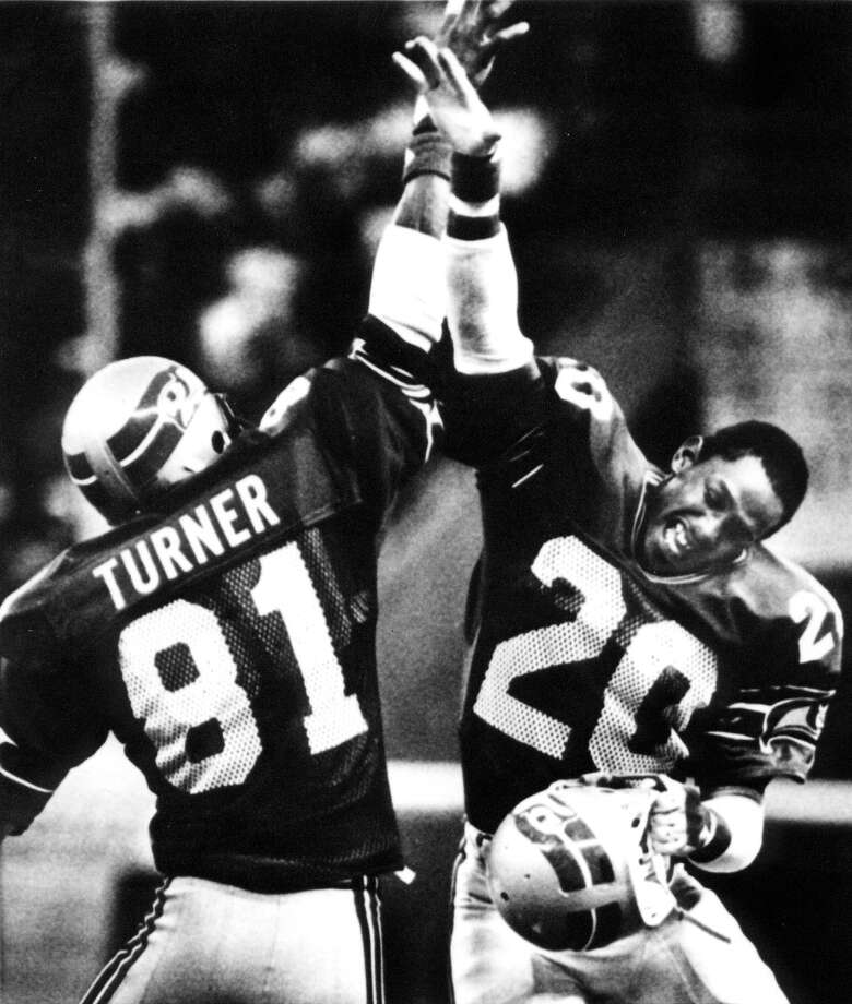 1984: Terry Taylor22nd-overall pick | Position: Cornerback | College: Southern Illinois  A little on the small side at 5-foot-10, Taylor (seen here at right, No. 20) was still productive in his first five years with the Seahawks, tallying 15 interceptions. In 1989, he switched to the Detroit Lions and in 1992 became a Cleveland Brown, before returning to Seattle for five game appearances in 1994. He finished up his career with the Atlanta Falcons in 1995.  Photo: Associated Press