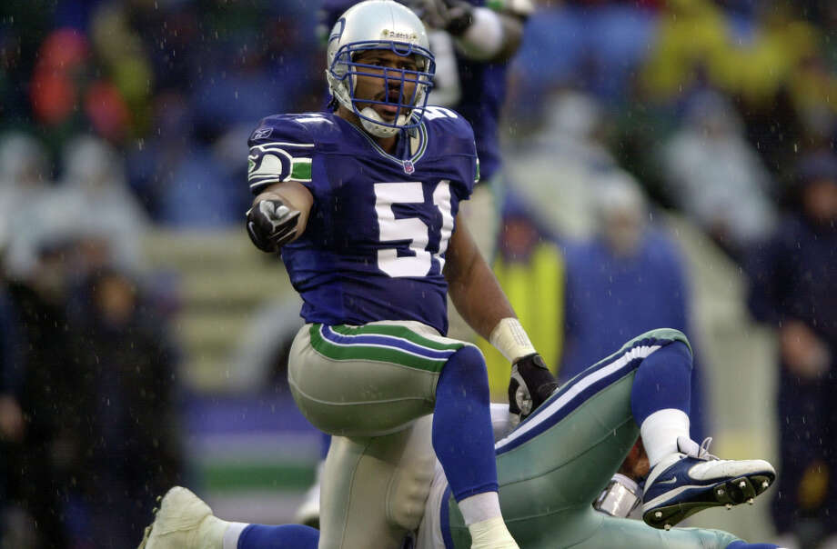 1998: Anthony Simmons15th-overall pick | Position: Linebacker | College: Clemson  After winning a consistent starting job in 1999, Simmons led the Seahawks in tackles in 2000, 2001 and 2003. He played all seven of his NFL seasons in Seattle, retiring after the 2004 season with 455 career tackles and nine interceptions. He attempted a comeback in 2006 with the New Orleans Saints, but didn't play beyond the preseason. Photo: Otto Greule, Getty Images / Getty Images North America